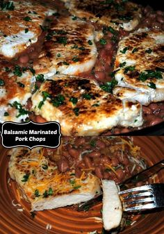 After a bath in a sweet balsamic marinade these boneless pork chops turn out moist and tender. Perfect for a healthy dinner.