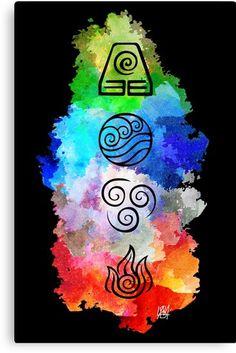 Avatar Legend Of Aang, Avatar Zuko, Team Avatar, The Last Avatar, Avatar The Last Airbender Art, Avatar Fan Art, 4 Elements, Framed Art Prints, Canvas Prints