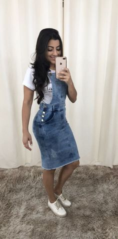 Looks para dia de Cultos Modest Outfits, Modest Fashion, Casual Dresses, Girl Fashion, Summer Outfits, Cute Outfits, Church Outfits, Classy Dress, Denim Skirt