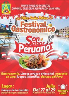 Festival Gastronómico Son y Sabor Peruano por Fiestas Patrias en el distrito Coronel Gregorio Albarracín Lanchipa