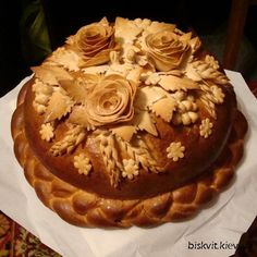 свадебный каравай украшение - Поиск в Google Decadent Food, Bread Art, Fancy Cakes, Creative Food, Food Art, Bread Recipes, Cake Decorating, Food And Drink, Yummy Food