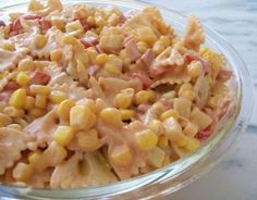 ▪Μακαρονοσαλάτα με καλαμπόκι και πιπεριές ▪Pasta salad with corn & peppers