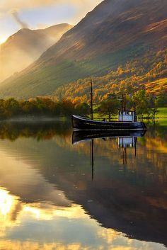 Loch Lochy in Autumn, Highlands of Scotland