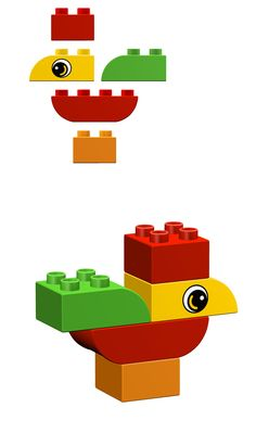How to build a Rooster with Lego's Duplo. #duplo