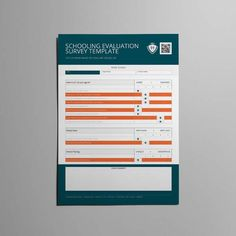 Employee Survey Template A Format  Cmyk  Print Ready  Clean