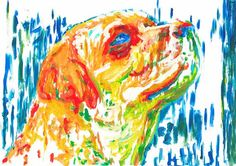 Labrador Print, Dog wall art, Lab dog Print ,Lab painting, labrador retriever print , Dog Art,……: Labrador Print, Dog… #dogs #pets #puppy