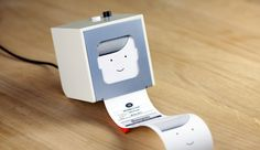 """A new product from BERG called the little printer (not yet out)... You """"feed"""" Little Printer by selecting content via a smartphone app, and then get your mini-newspaper delivered """"once or twice a day."""" Think of it like Flipboard, but without the screen. Puzzles included"""