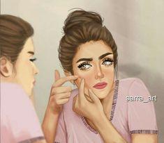 Beautiful Girl Drawing, Cute Girl Drawing, Cartoon Girl Drawing, Cartoon Girl Images, Girl Cartoon, Cartoon Art, Girly M Instagram, Sarra Art, Best Friend Drawings