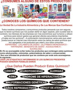 Clase 1- Quimicos Toxicos En Productos y Alimentos (Curso Informativo Sistema Actual) | Oh Que Sitio!!! - Oh Que Sitio!!!