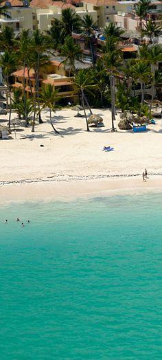 Dominican Republic, beach from the air