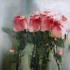 Abstract Flowers, Watercolor Flowers, Watercolor Paintings, Watercolour, Paintings I Love, Beautiful Paintings, Blog Art, Flower Art, Amazing Art
