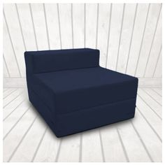 Single 1 Seater Cotton Twill Fold Out Zbed Futon Mattress Navy Blue Rattan Furniture Uk Interior Low Cost