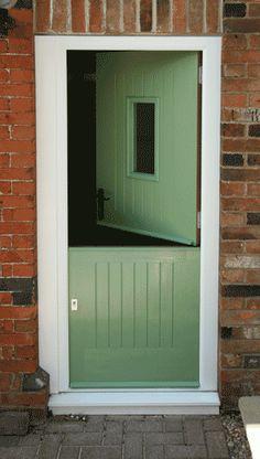 stable doors Exterior Doors, Interior And Exterior, Aluminium Windows And Doors, Laundry Room Doors, Clay Studio, Front Door Colors, Back Doors, Cozy Cottage, Stables