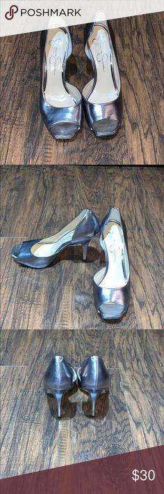 f4e528f556f Shop Women s Jessica Simpson Silver size Heels at a discounted price at  Poshmark.