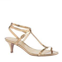 "A sultry, strappy kitten heel, Greta makes sweet dresses shine. <ul><li>2 1/4"" heel.</li><li>Leather upper.</li><li>Cushioned insole.</li><li>Made in Italy.</li><li>Online only.</li></ul>"