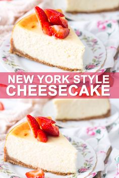cheesecake recipes Authentic New York Cheesecake is a tall, dense, and incredibly creamy style of cheesecake made with sour cream. The technique for mixing and baking makes the best cheesecake that doesnt crack, even without a water bath! New York Cheesecake Rezept, New York Style Cheesecake, Homemade Cheesecake, Easy Cheesecake Recipes, Easy Cookie Recipes, Easy Desserts, Dessert Recipes, Classic Cheesecake, Fudge Recipes