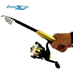 1 40m Telescopic Fishing Rod And 3BB Spinning Fishing Reel Rock Boat Saltwater Lce Fishing Rod
