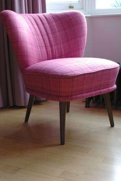 Cocktail Chairs: Designers Guild Hugga In Fuschia Tweed