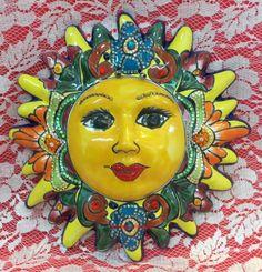 Talavera Sun Face Wall Hanging