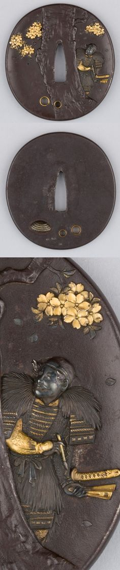 No idea who's behind this pretty tsuba but it got a ton of very fine details in there ..