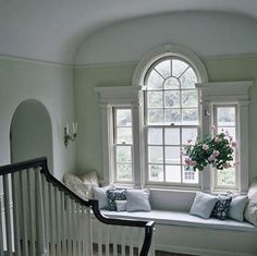 good place to be on a lazy afternoon - by a Grand Palladian Window Georgian Windows, Arched Windows, House Windows, Windows And Doors, Stairs Window, Window Seats, Palladian Window, Georgian Homes, Window Styles