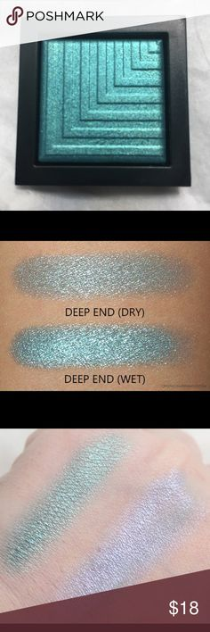 Nars Deep End Dual Intensity Eyeshadow Limited edition color. Color is a teal green. The formula is super smooth and can be worn wet or dry. Item is brand new in tester packaging. NARS Makeup Eyeshadow