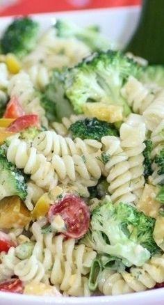 Macaroni Salad with Three Cheese Ranch Dressing Recipe ~ fabulous!