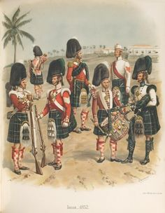 British; 78th (Highlanders) Regiment of Foot (or The Ross-shire Buffs), India, 1852