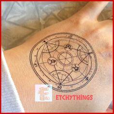 FMA Transmutation Circle Temporary Tattoo Human by etchythings