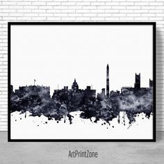 Washington Dc Wall Art phoenix print, phoenix skyline, phoenix arizona, city wall art