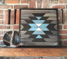 NAVAJO - Reclaimed wood wall art - Southwest wood wall art - Squash blossom pattern Excited to share this item from my shop: Reclaimed wood wall art - Southwest wood wall art - Navajo inspired - Squash Blossom