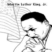 Striking image pertaining to martin luther king jr coloring pages printable