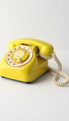 Rotary Dial Land-line Telephone; I miss these.