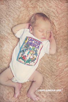 CAPTAIN AMERICA COMIC Baby Bodysuit Onesie Any Size $14.00