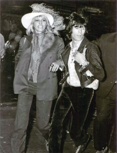 Anita Pallenberg and Keith Richards at the London premiere of the Beatles' film Yellow Submarine, 1968