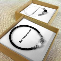 Couples Jewelry His And Her Bracelet His and Hers Gifts Bracelet Couple, Couple Jewelry, Matching Couple Bracelets, Matching Couples Jewelry, Gifts For Him, Great Gifts, Cadeau Couple, Body Jewelry Shop, Small Cards