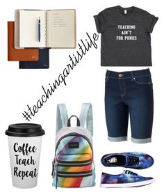 """""""#teachingartistlife"""" by karissaelliott on Polyvore featuring Vans, Mark & Graham, Juicy Couture and Marc Jacobs"""