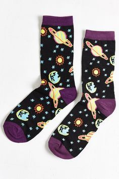 Neon Space Sock - Urban Outfitters