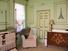 French inspired nursery...with blue of course, instead of pink!!