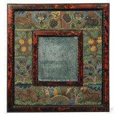 Folk Art Glass Beaded Mirror