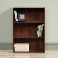 "3-Shelf 35"" Tall Bookcase in Brook Cherry Finish"
