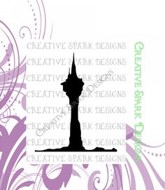 Rapunzel Tower Silhouette SVG by CreativeSparkDesigns on Etsy