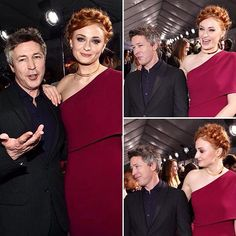 Aidan Gillen and Sophie Turner at the GoT premiere in LA. Lord Baelish, Petyr Baelish, Sansa And Petyr, Sansa Stark, Got Premiere, Game Of Thrones Merchandise, Project Blue Book, Game Of Throne Actors, Aidan Gillen