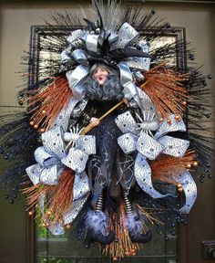 Halloween Wreaths Witch Wreath Door Decor Fall Door by LuxeWreaths, $220.00