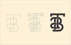 T&B Electric Logo Drafts/How to Make a Monogram on Behance
