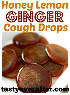 Natural Home Remedies Don't buy store cough drops, make your own homemade all-natural Honey Lemon Ginger Cough Drops! Made with only 3 ingredients and in less than 30 minutes. Cough Remedies For Adults, Cold Remedies, Natural Health Remedies, Natural Cures, Natural Healing, Herbal Remedies, Natural Treatments, Natural Foods, Bloating Remedies