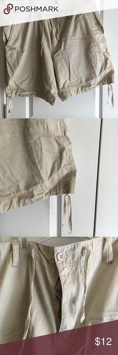 Venezia shorts Khaki color Venezia brand shorts. Draw string and button waist and string ties at bottom of each leg. Barely worn. Venezia Shorts