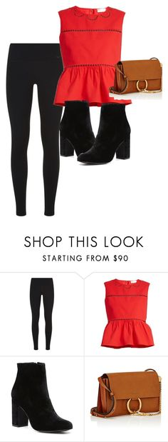 """""""Leggings"""" by london124 ❤ liked on Polyvore featuring NIKE, RED Valentino, Witchery and Chloé"""