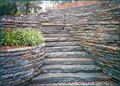 field stone outdoor staircase | Flagstone Natural Stone Steps In Our Stone Yard