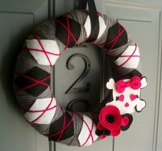 Yarn Wreath Felt Handmade Door Decoration  Pirates by ItzFitz, $45.00